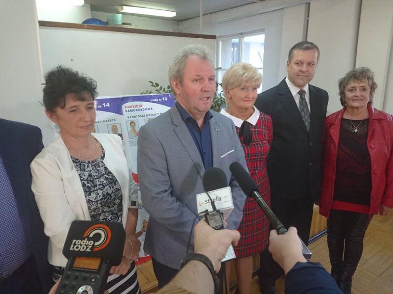 Grzegorz Adamczyk podkreślał, że w mieście i powiecie Sojusz popiera tylko kandydatów KWW Koalicja Samorządowa.