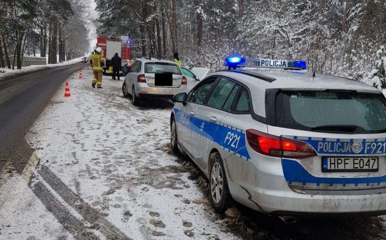 fot.: KPP Bełchatów / wypadek w m. Czarny Las