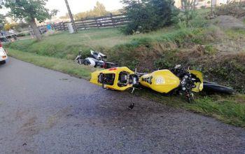 Śmiertelny wypadek w Gorzędowie. Motocyklista uderzył w ciężarówkę