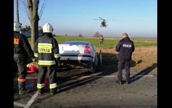 Zespół LPR interweniował po wypadku na DK nr 42