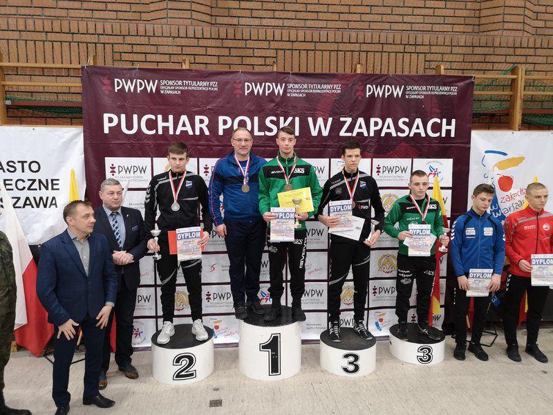 Kajetan Olejnik na najwyższym stopniu podium