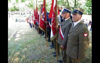 Salwa honorowa na Borowskiej Górze