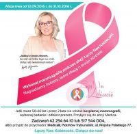 Październik miesiącem walki z rakiem piersi. Zbadaj się!