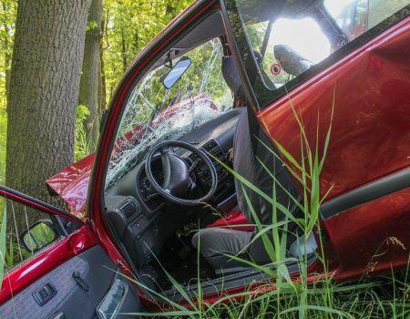 Auto uderzyło w drzewo. Kierowca miał blisko 3 promile