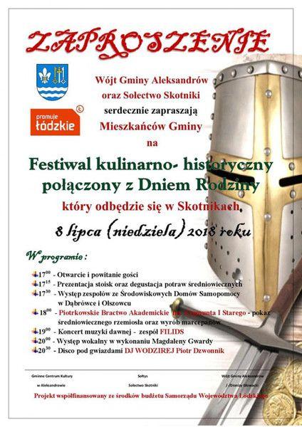 Festiwal Kulinarno-Historyczny w Skotnikach