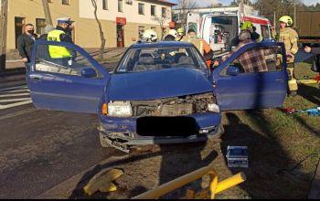 Wypadek w Sulejowie. Jedna osoba ranna