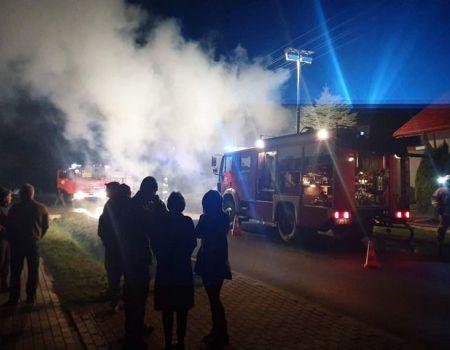 Pożar domu w Czarnocinie