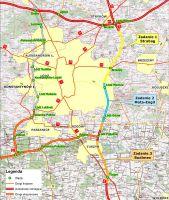 Zobacz mapkę sytuacyjną budowy odcinka autostrady A-1 Stryków – Tuszyn