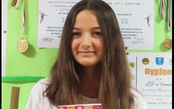 Uczennica z Gomulina finalistką ogólnopolskiego konkursu