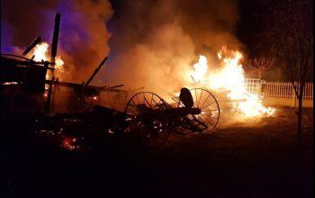 Pożar stodoły w gminie Wolbórz [AKTUALIZACJA]