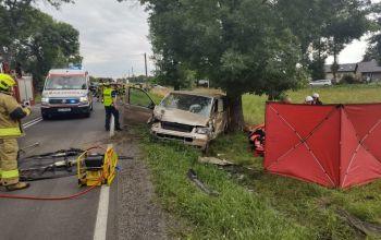 Wypadek na DK 42. Zginął kierowca busa