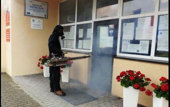 Gmina Aleksandrów: Dezynfekcja w Urzędzie Gminy