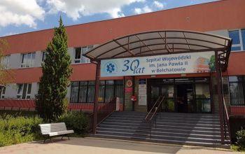 Piotrkowianin zniszczył drzwi bełchatowskiego szpitala