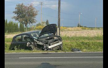Groźny wypadek z udziałem motocyklisty. Droga była całkowicie zablokowana
