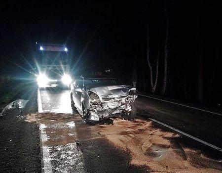 Dwa zniszczone samochody i jedna osoba ranna po zderzeniu z dzikiem