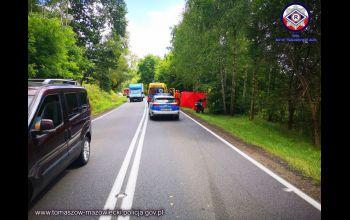 Dwa wypadki motocyklistów z Tomaszowa. Jeden nie żyje