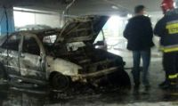 Pożar na parkingu wielopoziomowym. Jak się zachować?