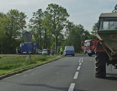 Zderzenie dwóch pojazdów w Grabicy