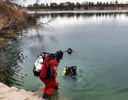 Strażacy nurkowali na Wapiennikach