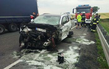 Cztery auta zderzyły się pod Srockiem