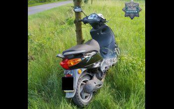 Pijany motocyklista spowodował kolizję drogową