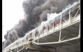 Potężny pożar na terenie Elektrowni Bełchatów [Aktualizacja]