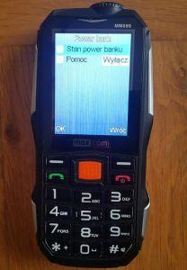 Telefon MAXCOM Strong MM899 z funkcją powerbanku