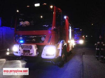 Pożar przy Targowej w Sulejowie