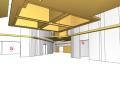Widok od wewnątrz wirtualnego modelu Centrum Handlowego zbudowanego przez firmę GardaTech.