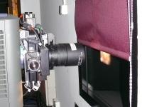 Obiektyw projektora cyfrowego w kinie Helios.