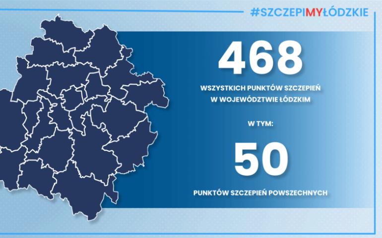 50 powszechnych punktów szczepień w Łódzkiem