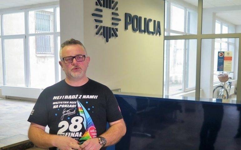 W 2020 Dariusz Cecotka współpracował z piotrkowskimi policjantami, by znaleźć sprawcę kradzieży / fot.: Ł. Michalczyk