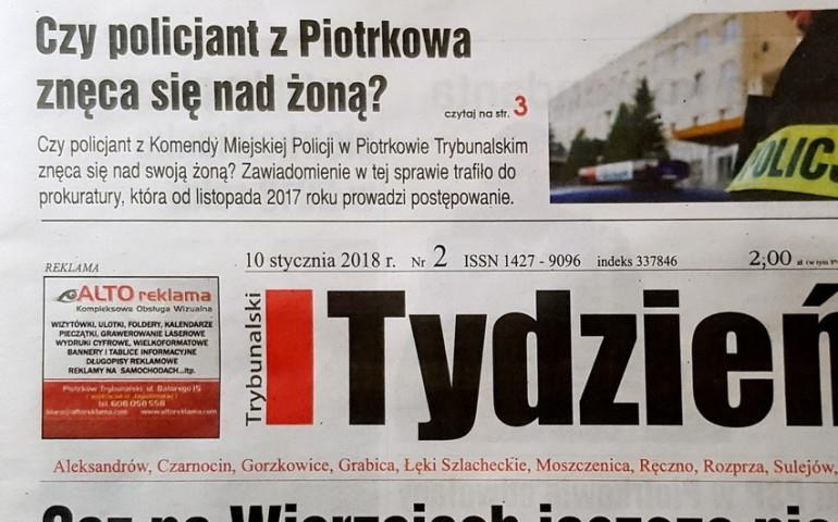 Czy policjant z Piotrkowa znęca się nad żoną?