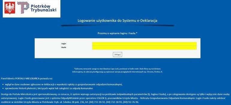 Odpadowy portal dla mieszkańców Piotrkowa