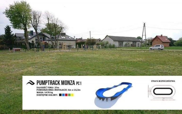 W tym miejscu powstanie pumptrack w Barkowicach, fot. www.sulejow.pl