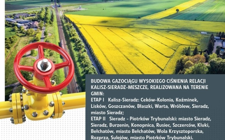 Gmina Wola Krzysztoporska na trasie nitki gazociągu