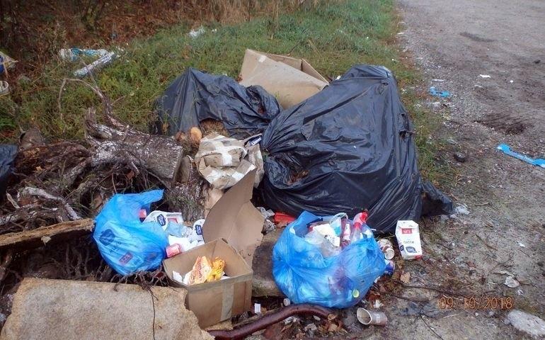 Śmieci na obrzeżach miasta