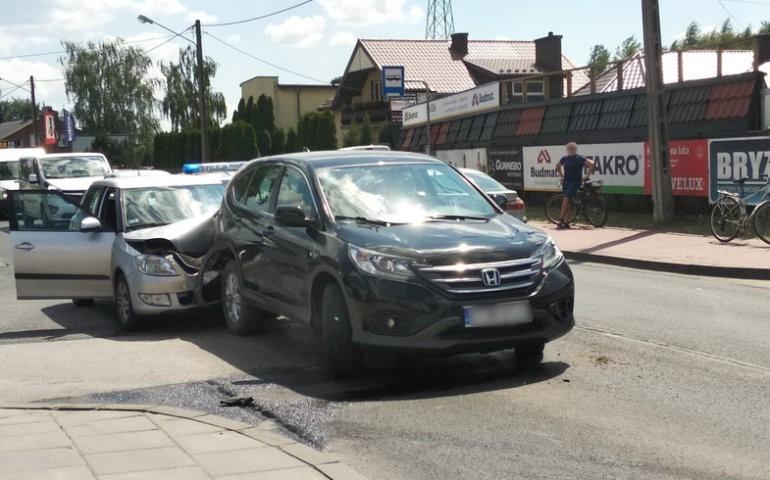 Wypadek na ul. Łódzkiej w Piotrkowie