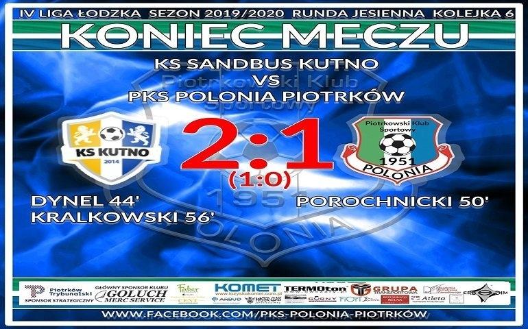 Pierwsza porażka Polonii