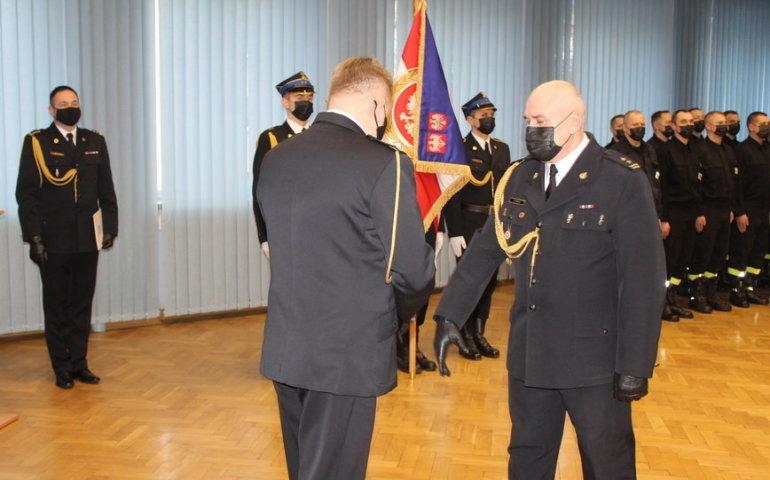 Wprowadzenie nowego komendanta, fot. PSP Piotrków