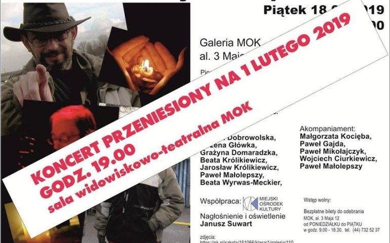 Koncert upamiętniający Piotra Kudybę przeniesiony